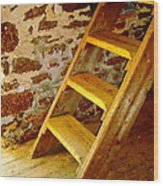 The Loft Steps Wood Print