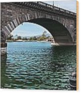 The London Bridge Is In Arizona Wood Print