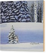 The Lone Christmas Tree Wood Print