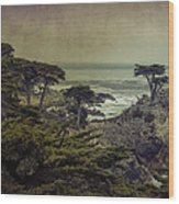 The Lone Cypress Wood Print