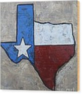 The Lone Star State Wood Print