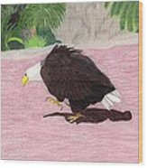 The Lonely Eagle Wood Print by Bav Patel