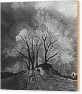 The Lonely Grave Wood Print