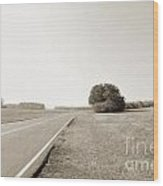 The Lonely Road Wood Print