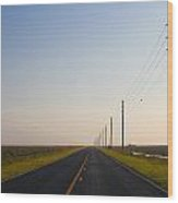 The Long Road Wood Print