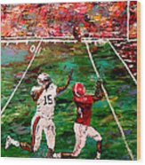 The Longest Yard - Alabama Vs Auburn Football Wood Print by Mark Moore