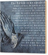 The Lord Is My Shepherd Wood Print by Albrecht Durer