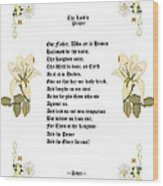 The Lords Prayer Wood Print