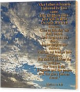 The Lords Prayer Wood Print by Glenn McCarthy Art and Photography
