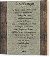 The Lord's Prayer Wood Print