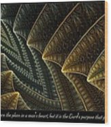 The Lord's Purpose Wood Print