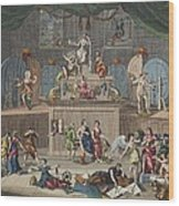The Lottery, Illustration From Hogarth Wood Print