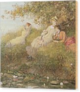 The Lotus Eaters, 1893 Wood Print