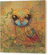 The Love Bird Wood Print by Karin Taylor