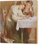 The Love Letter, 1871 Wood Print