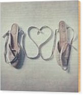 The Love Of A Ballerina Wood Print
