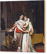 The Lovers Farewell Wood Print