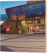 The Lowry Complex At Dusk, Salford Wood Print