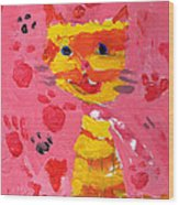 The Lucky Cat Wood Print