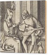 The Lute Player And The Singer Wood Print