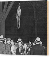 The Lynching Of A Murderer Wood Print