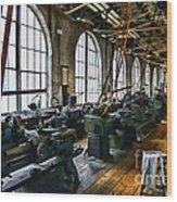 The Machine Shop Wood Print