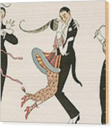 The Madness Of The Day Wood Print by Georges Barbier