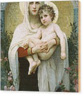 The Madonna Of The Roses Wood Print
