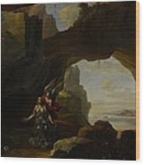 The Magdalen In A Cave Wood Print