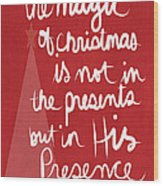 The Magic Of Christmas- Greeting Card Wood Print