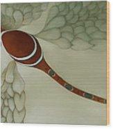 The Magic Puff Dragonfly Wood Print