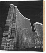 The Magnificent Aria Resort And Casino At Citycenter In Las Vegas Wood Print