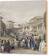 The Main Street In The Bazaar Wood Print