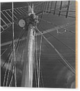 The Mainmast Of The Amazing Grace In Infrared Wood Print