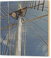 The Mainmast Of The Amazing Grace Wood Print
