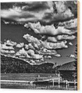 The Majestic Big Moose Lake Wood Print