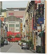 The Majestic Theater Chinatown Singapore Wood Print