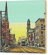 The Majestic Theatre And Commerce St. In Dallas Tx In 1919 Wood Print