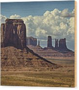 The Majesty Of Monument Valley  Wood Print