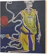 The Mamba Strikes Wood Print