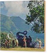The Mammoth Kill Wood Print