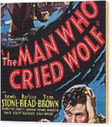 The Man Who Cried Wolf, Us Poster Wood Print