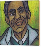 The Man With The Golden Voice Wood Print