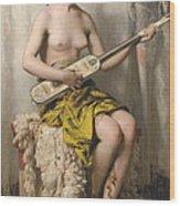 The Mandolin Player Wood Print