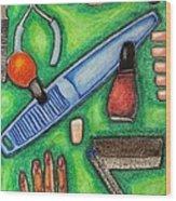 The Manicurist Wood Print