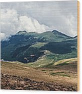 The Manitou And Pikes Peak Railway Cog Descends Wood Print