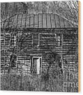 The Mansion Bw Wood Print