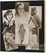 The Many Faces Of Greta Garbo Wood Print