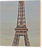 The Many Faces Of The Eiffel Tower In Paris France Wood Print