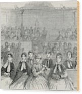 The Many Wives Of The Mormon Leader Wood Print